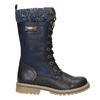 Zimowe buty dziewczęce zdzianiną mini-b, niebieski, 391-9657 - 15