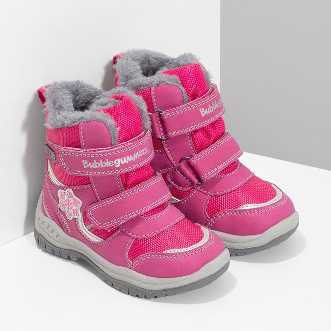 Różowe śniegowce dziecięce bubblegummer, różowy, 199-5602 - 26