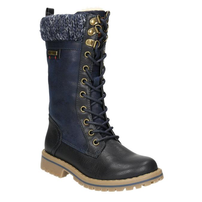 Zimowe buty dziewczęce zdzianiną mini-b, niebieski, 391-9657 - 13