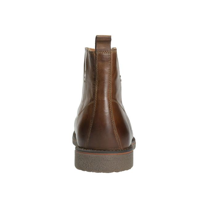 Skórzane ocieplane buty za kostkę bata, brązowy, 896-4662 - 17