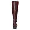 Skórzane kozaki zklamrami bata, czerwony, 596-5665 - 17