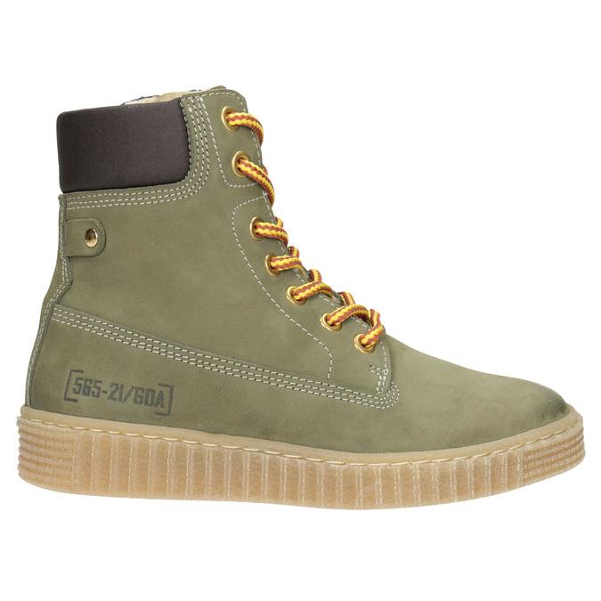 Zimowe buty dziecięce zociepliną mini-b, zielony, 496-3620 - 26