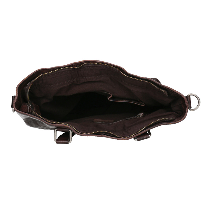 Brązowa skórzana torba bata, brązowy, 964-4245 - 15