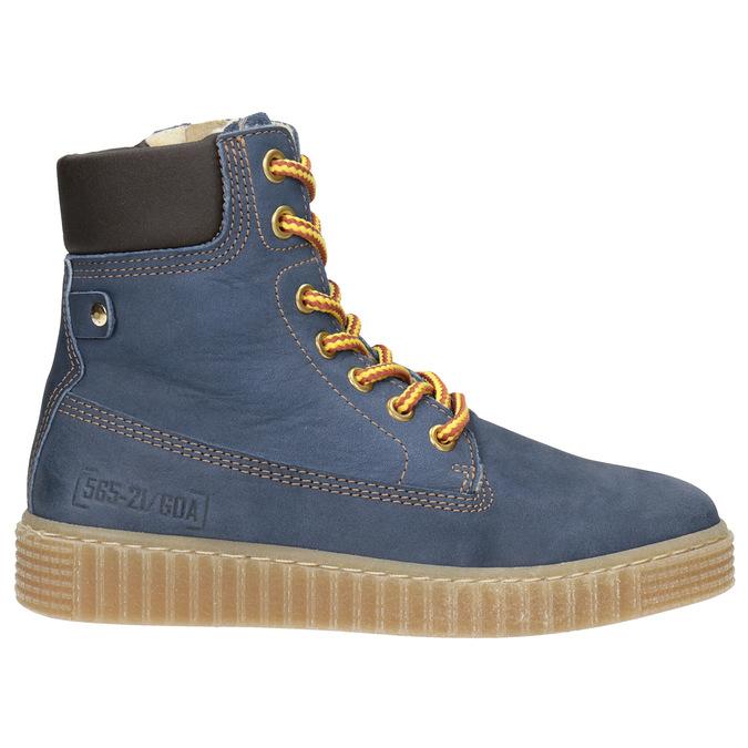 Zimowe buty dziecięce zociepliną mini-b, niebieski, 496-9620 - 26