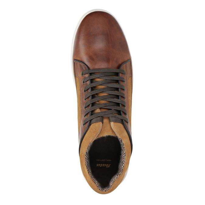 Skórzane trampki męskie bata, brązowy, 846-3643 - 15