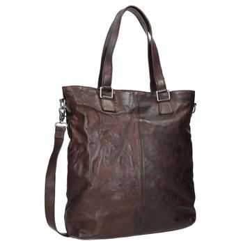 Brązowa skórzana torba bata, brązowy, 964-4245 - 13