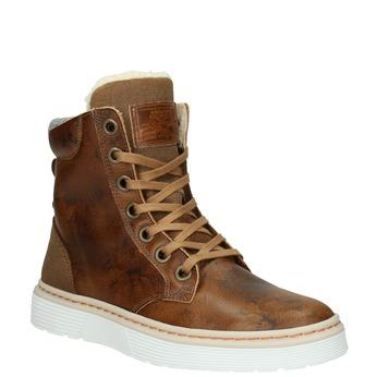 Zimowe buty damskie ze skóry bata, brązowy, 596-4684 - 13