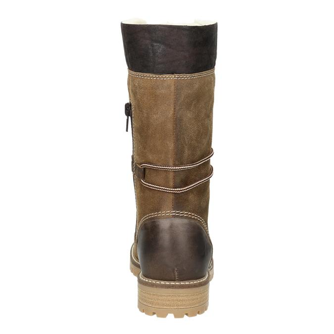 Zimowe buty damskie zfuterkiem weinbrenner, brązowy, 593-8476 - 16