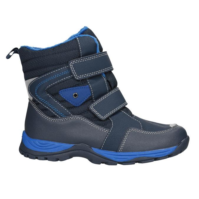 Zimowe buty dziecięce na rzepy mini-b, niebieski, 491-9653 - 26