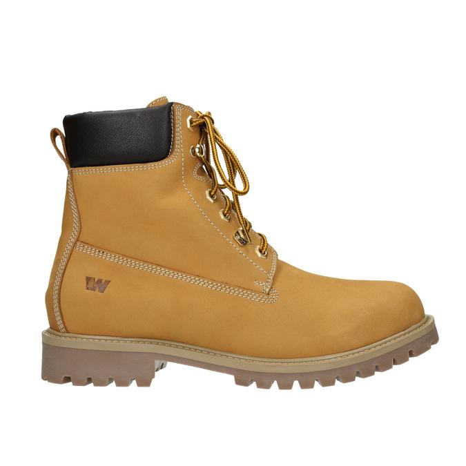 Skórzane obuwie za kostkę weinbrenner, żółty, 896-8669 - 26