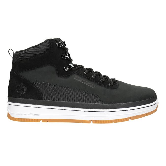 Skórzane obuwie męskie za kostkę k1x, czarny, 806-6552 - 26