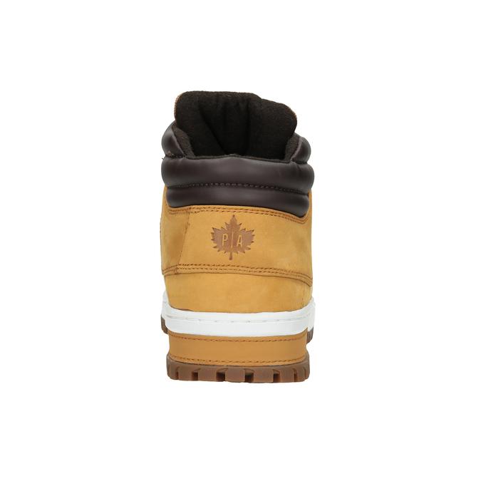 Zimowe skórzane buty męskie, brązowy, 806-3495 - 16
