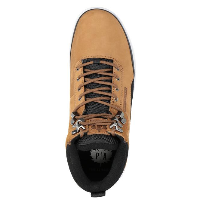 Skórzane buty męskie za kostkę, brązowy, 806-4552 - 15