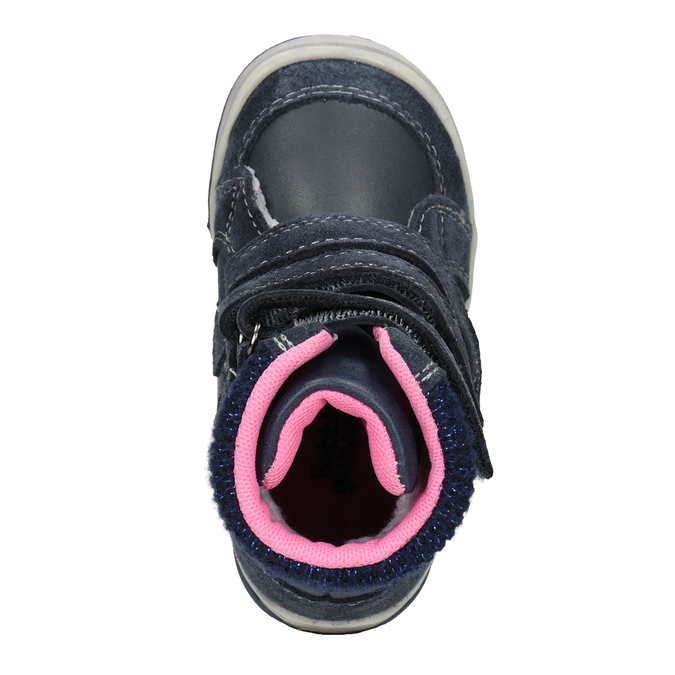 Zimowe skórzane obuwie dziecięce bubblegummer, niebieski, 124-9602 - 15
