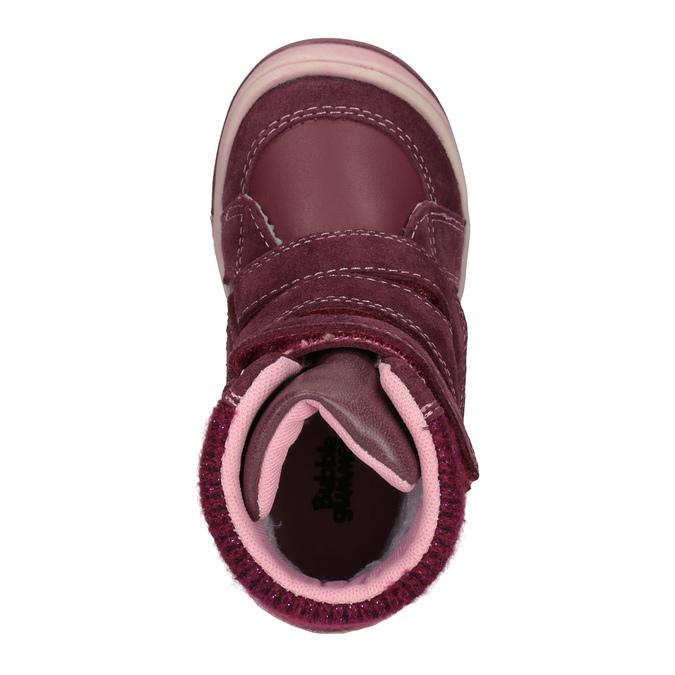 Zimowe skórzane buty dziecięce bubblegummer, czerwony, 124-5602 - 15