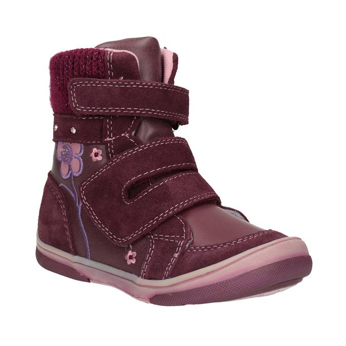 Zimowe skórzane buty dziecięce bubblegummer, czerwony, 124-5602 - 13