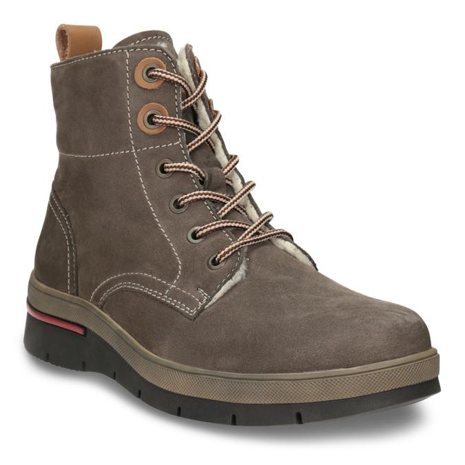 Zimowe buty damskie ze skóry weinbrenner, brązowy, 596-4666 - 13