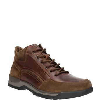 Skórzane buty męskie za kostkę bata, brązowy, 896-3705 - 13