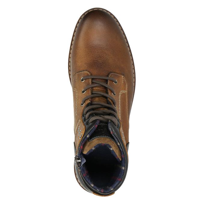 Skórzane buty za kostkę bata, brązowy, 896-3680 - 26