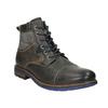 Skórzane buty zniebieskimi detalami bata, szary, 896-2679 - 13