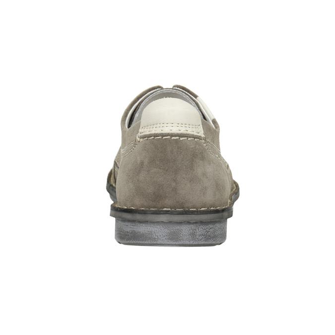 Nieformalne półbuty ze skóry bata, szary, 853-2612 - 16
