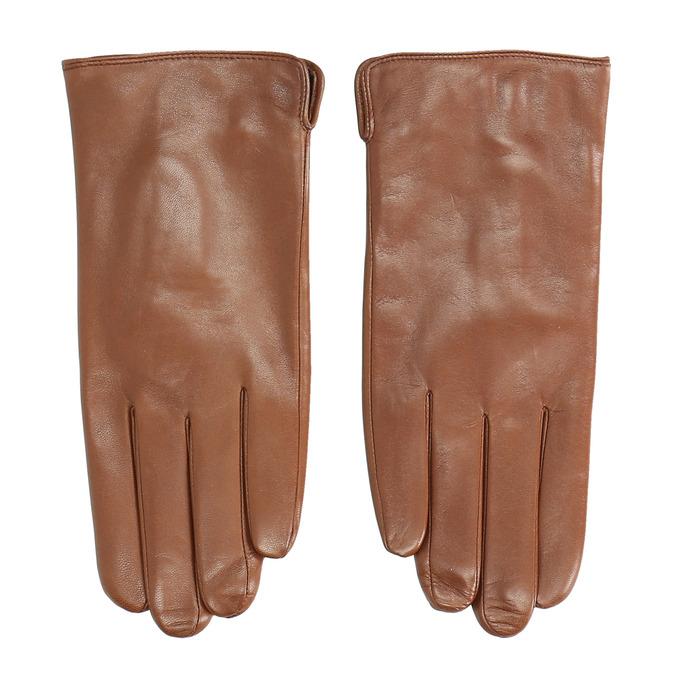 Brązowe skórzane rękawiczki bata, brązowy, 904-3129 - 26