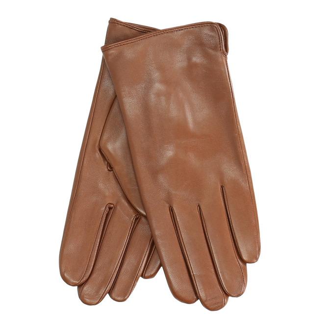 Brązowe skórzane rękawiczki bata, brązowy, 904-3129 - 13