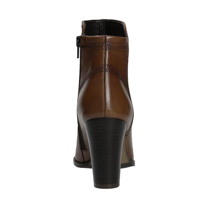 Skórzane botki bata, brązowy, 794-4650 - 16
