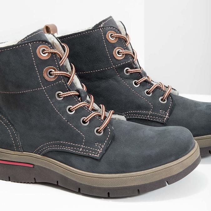 7ba1a72f Zimowe buty damskie ze skóry weinbrenner, szary, 596-2636 - 14