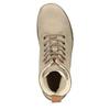 Zimowe skórzane buty damskie za kostkę weinbrenner, brązowy, 596-3666 - 15