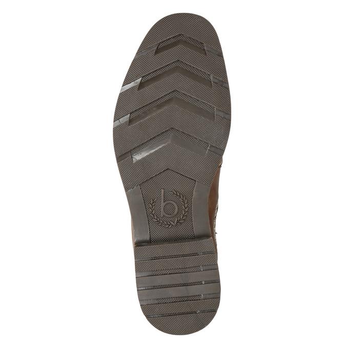 Skórzane obuwie typu Chelsea bugatti, brązowy, 896-4035 - 17