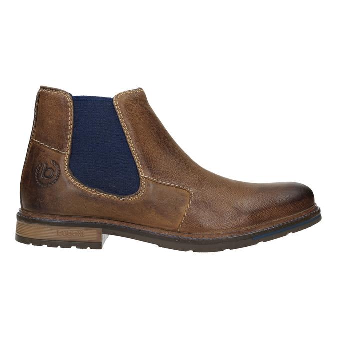 Skórzane obuwie typu Chelsea bugatti, brązowy, 896-4035 - 26