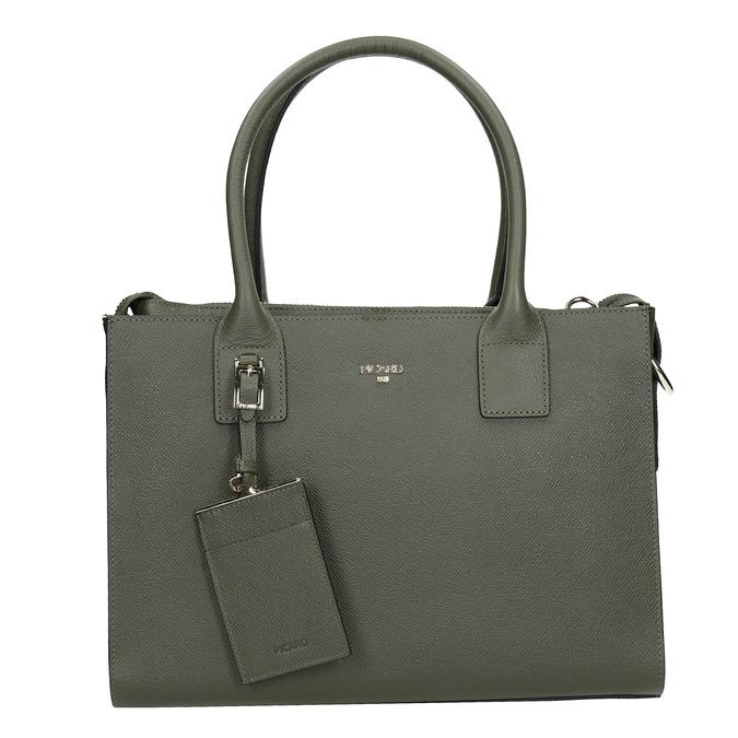 Skórzana torebka zpaskiem picard, zielony, 966-7039 - 26