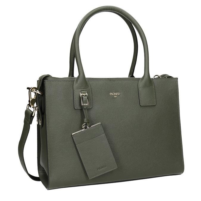 Skórzana torebka zpaskiem picard, zielony, 966-7039 - 13