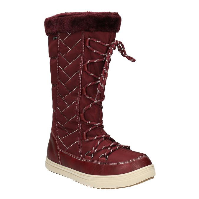 Bordowe śniegowce damskie bata, czerwony, 599-5621 - 13