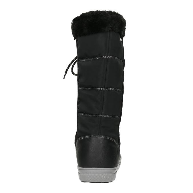 Pikowane śniegowce damskie bata, czarny, 599-6621 - 16