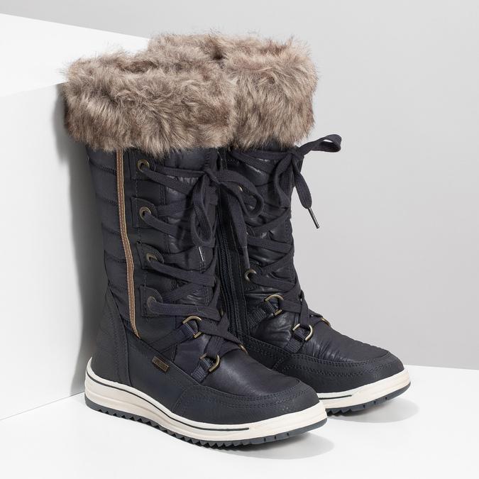 Śniegowce damskie zfuterkiem bata, niebieski, 599-9620 - 26