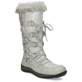 Zimowe śniegowce zfuterkiem bata, beżowy, 599-8618 - 13