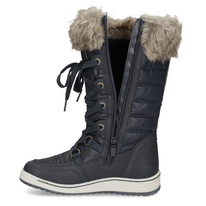 Śniegowce damskie zfuterkiem bata, niebieski, 599-9620 - 17
