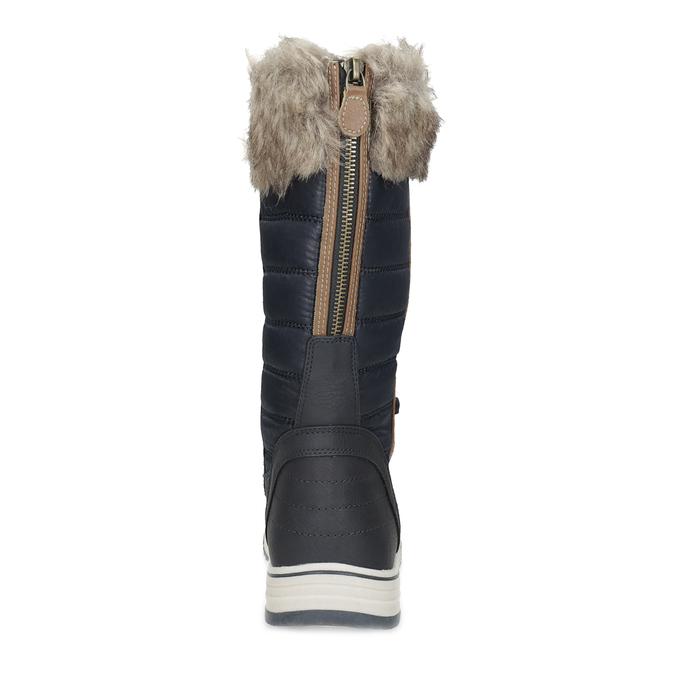 Śniegowce damskie zfuterkiem bata, niebieski, 599-9620 - 15