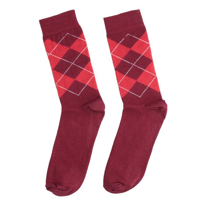 Skarpetki męskie wangielski wzór bata, czerwony, 919-5300 - 26