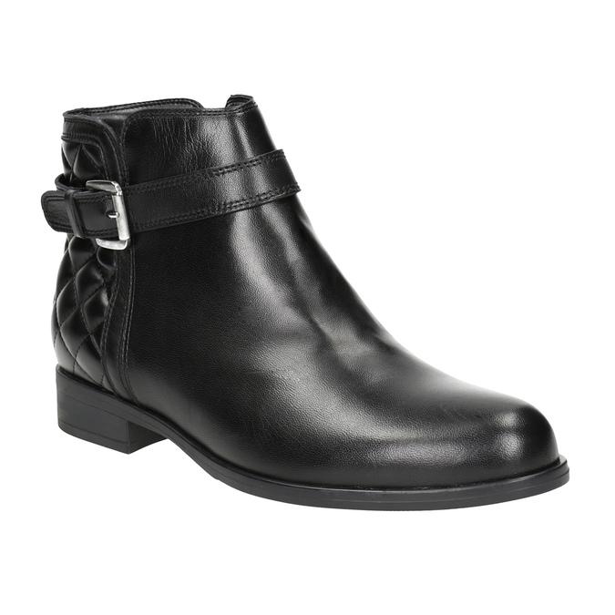 Skórzane botki zklamrami bata, czarny, 594-6662 - 13