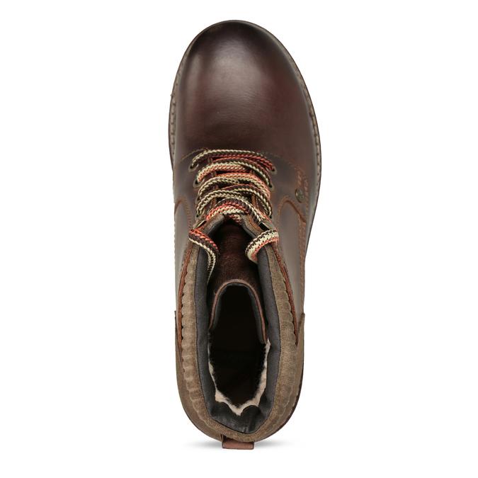 Skórzane buty zimowe za kostkę bata, brązowy, 896-4661 - 17