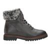 Skórzane buty zimowe zfuterkiem bata, szary, 594-6650 - 16