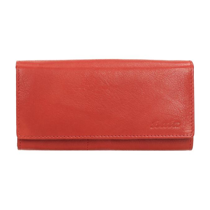 Czerwony skórzany portfel damski bata, czerwony, 944-3203 - 26