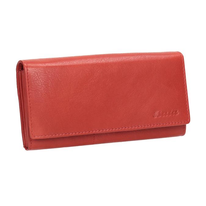 Czerwony skórzany portfel damski bata, czerwony, 944-3203 - 13