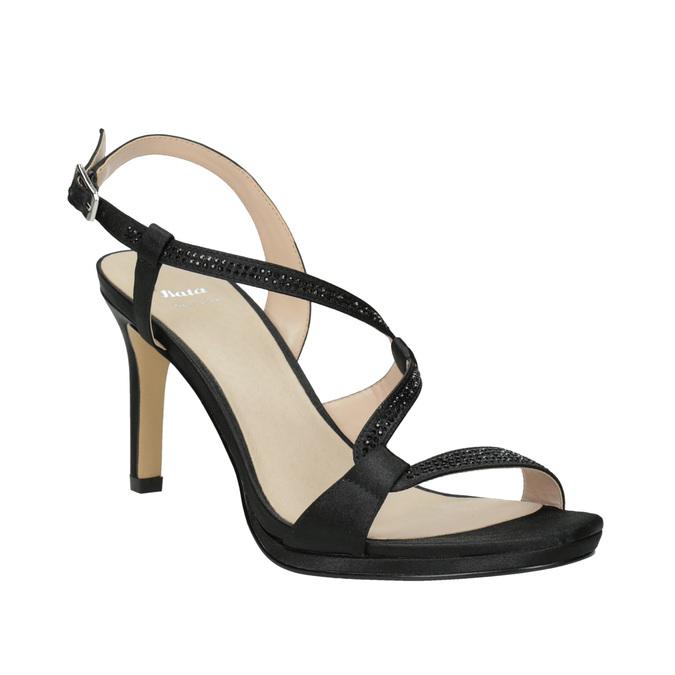 Wyjściowe sandały damskie zkryształkami bata, czarny, 729-6611 - 13