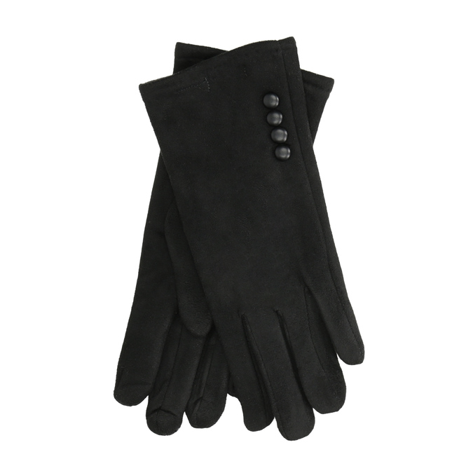 Rękawiczki damskie zmateriału tekstylnego bata, czarny, 909-6612 - 13