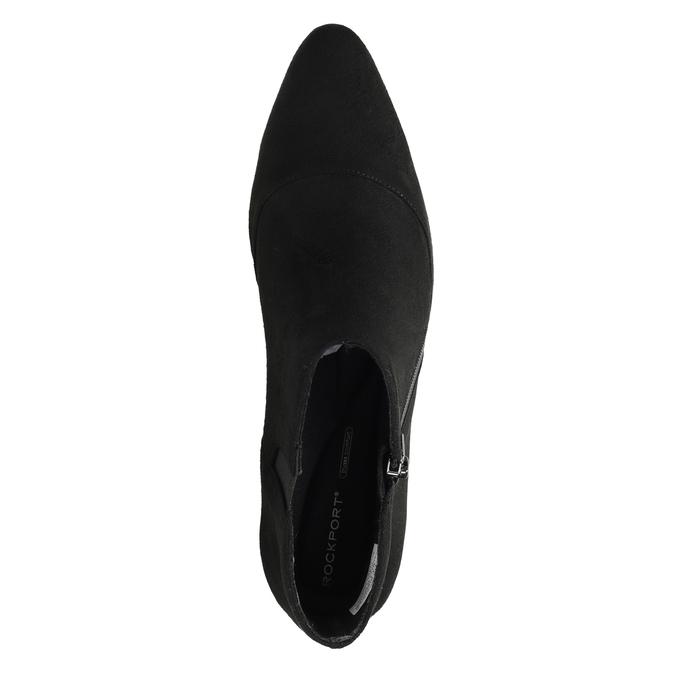 Skórzane botki na słupkach rockport, czarny, 713-6056 - 17