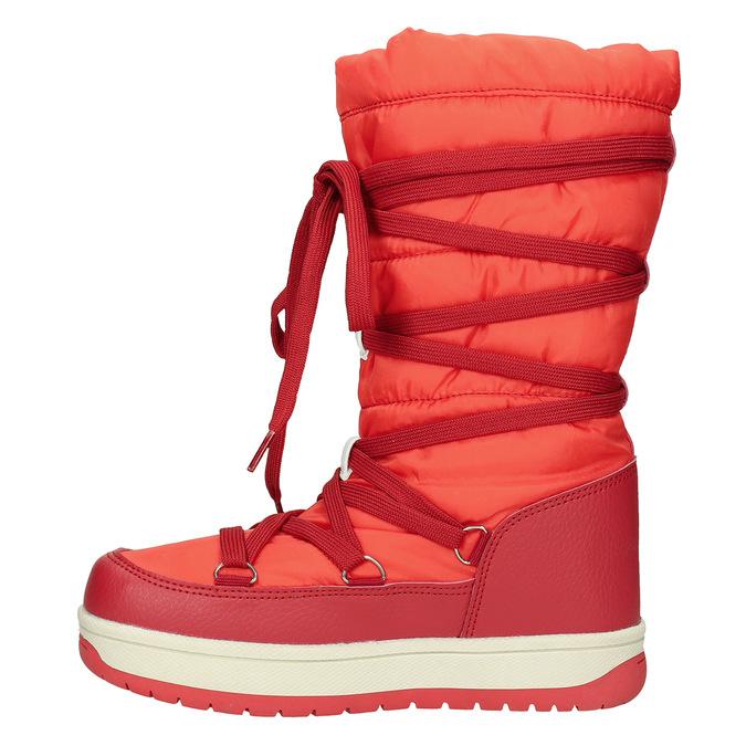 Czerwone śniegowce damskie bata, czerwony, 599-5616 - 26